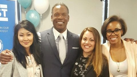 Jenny Dempewolf and members ofthe Comcast Black Employee Network.