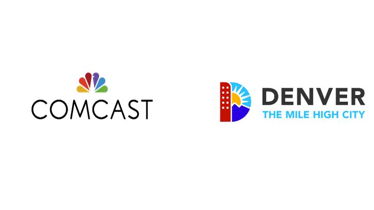 The Comcast and Denver logos.