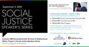 Continuing Anti-Racist and Social Justice Work – Social Justice Speaker's Series Virtual Event