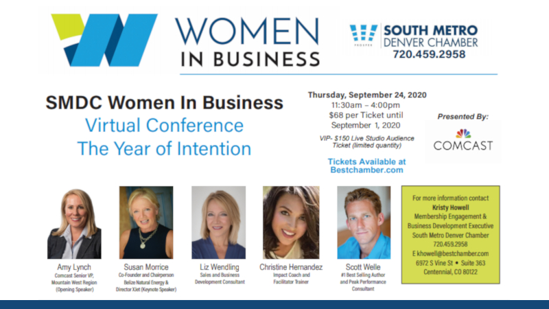 Women in Business speaker announcement flyer